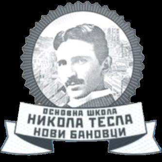 Nikola Tesla logo osnovna skola NoviBanovci